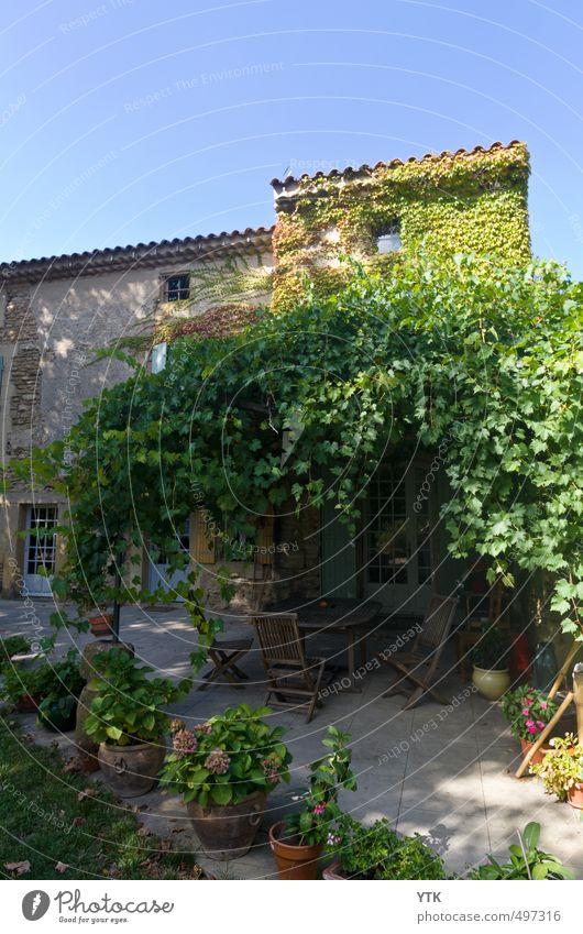 La Bastide Himmel Natur Pflanze Sommer Baum Blume Blatt Haus Umwelt Fenster Wand Mauer Architektur Gebäude Blüte Garten