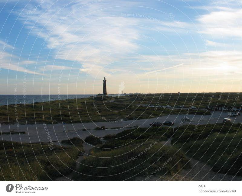 Skagen Leuchtturm Küste Skagerrak Meer Sonnenuntergang Panorama (Aussicht) Ferien & Urlaub & Reisen Europa Himmel Wasser Dänemark Stranddüne Landschaft Nordsee