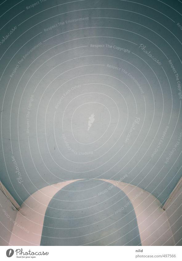 Himmelblau Kirche Kapelle Decke Bogen weiß Blauverlauf Geometrie Grafik u. Illustration graphisch Farbfoto Innenaufnahme Textfreiraum oben Textfreiraum Mitte