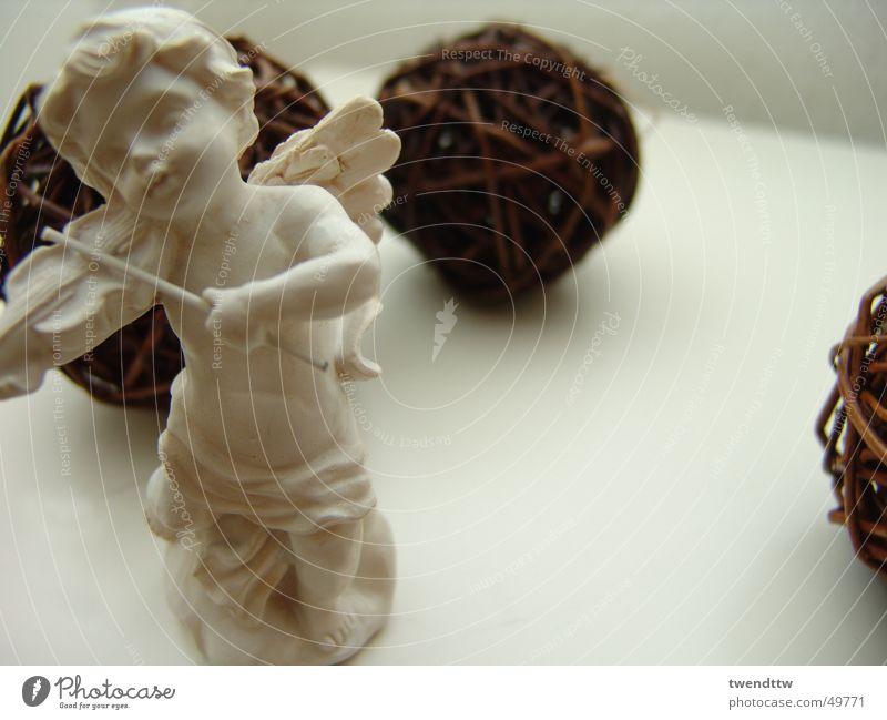 weihnachtsengel Weihnachten & Advent Engel Flügel Kugel Geige Gips