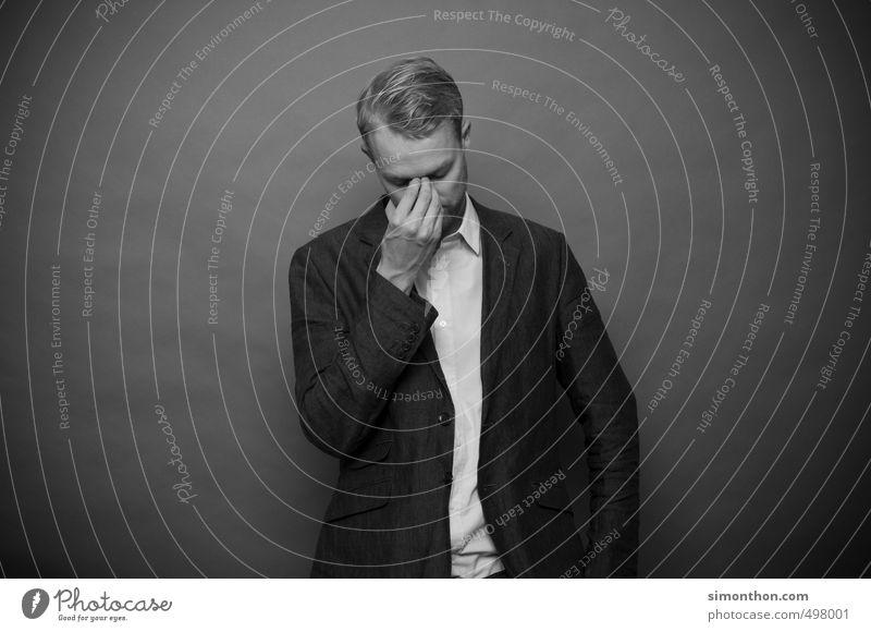 Mist Mensch Traurigkeit Tod Stil Schule Business maskulin Erfolg lernen Studium Vergänglichkeit Trauer Bildung Student Schmerz Stress