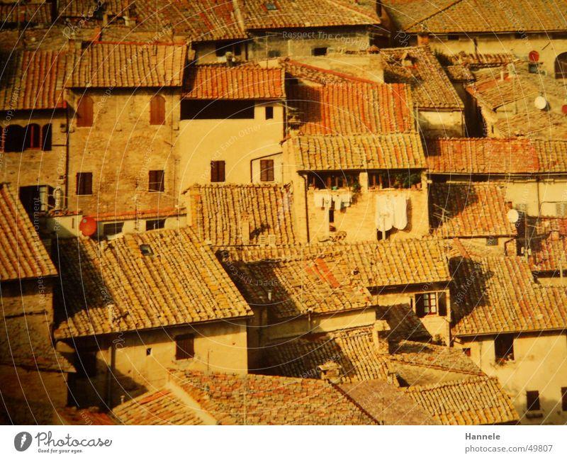 siena 3 Ferien & Urlaub & Reisen oben Dach Italien Wäsche Süden Toskana Dachziegel Siena