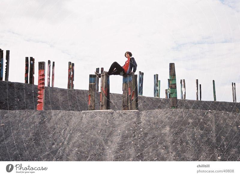Holzkunst Mann Kunst Ruhrgebiet frei Halde Bottrop