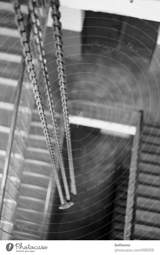 Einfach mal abhängen... weiß Einsamkeit schwarz Wand Mauer Architektur Gebäude Innenarchitektur Arbeit & Erwerbstätigkeit Treppe Zufriedenheit