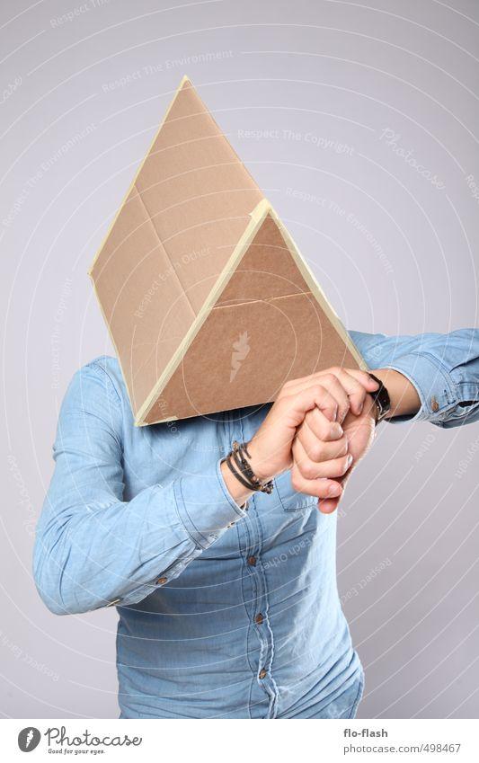 ECKART NIMMT SICH ZEIT Mensch Jugendliche Mann Junger Mann 18-30 Jahre Erwachsene lustig Denken Stil Kunst maskulin Uhr Design stehen verrückt lernen
