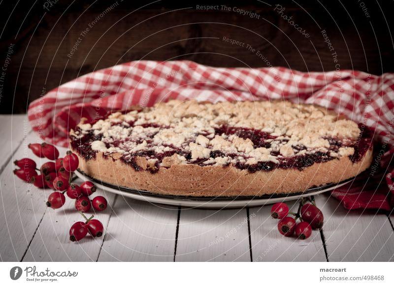 Obstkuchen Streußelkuchen Streusel Kuchen Frucht landhausstil Landhaus Hagebutten Hundsrose Tischwäsche Küchenhandtücher pflaumenkuchen früchtekuchen