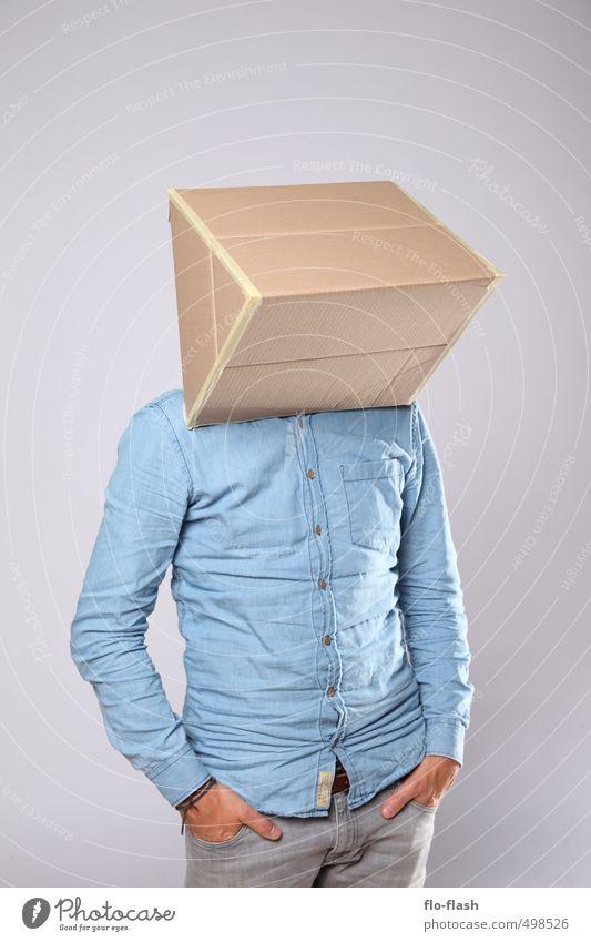 ECKART II Design maskulin Junger Mann Jugendliche Erwachsene 1 Mensch 18-30 Jahre 30-45 Jahre Kunst Skulptur Theaterschauspiel Mode Hemd Maske Karton Pappe
