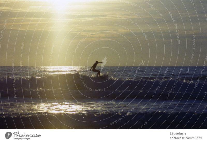 surfer Sonne Meer Sommer Strand Freiheit Frankreich Surfen Surfer Atlantik