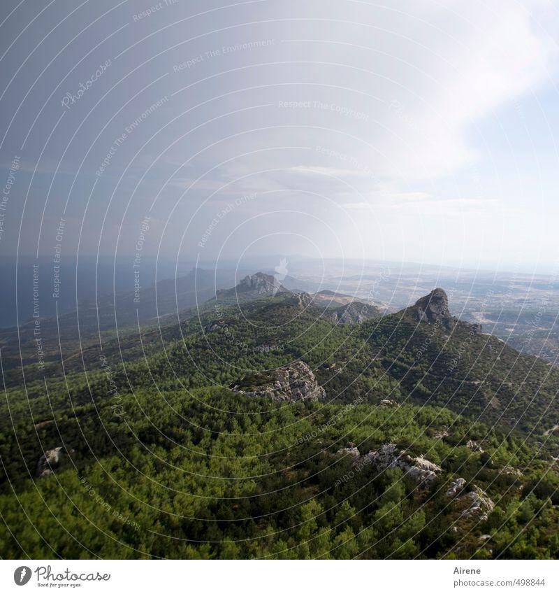 Schöpfung dritter Tag 2.0 Himmel Natur Ferien & Urlaub & Reisen blau grün Wasser Meer Landschaft Wolken Ferne Wald Berge u. Gebirge Freiheit Felsen Horizont