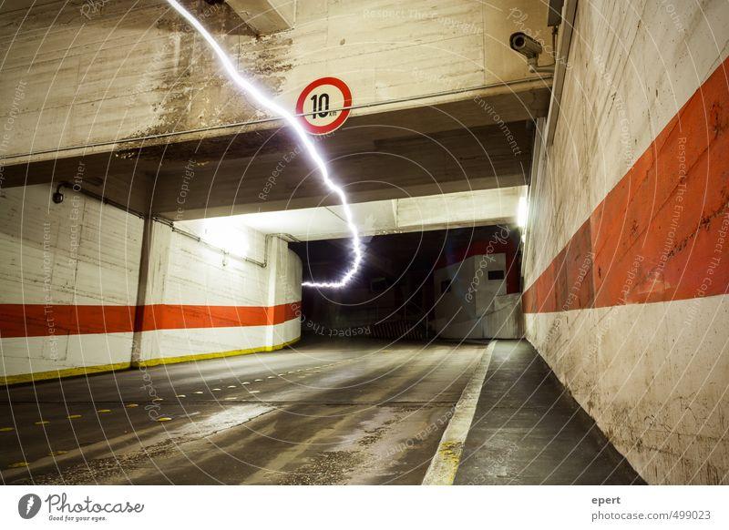 Park Light System II Stadt Wand Straße Bewegung Mauer leuchten Geschwindigkeit Energie Elektrizität Strahlung Tunnel parken Parkhaus