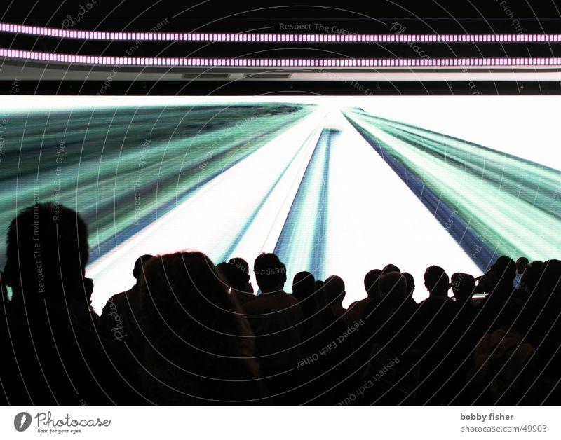 timewarp Mensch Party Stil Gottesdienst Laser Präsentation