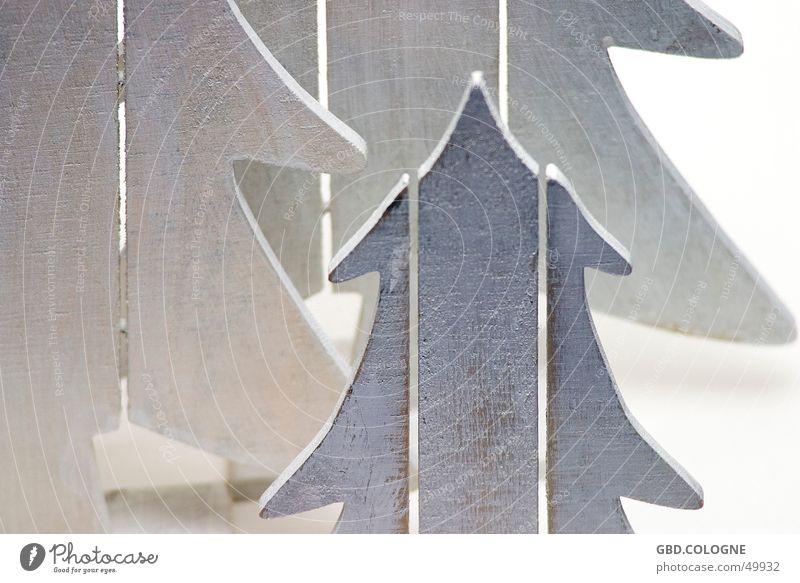 Weiße Weichnachten Winter Dekoration & Verzierung Weihnachten & Advent Baum Holz weiß Weihnachtsbaum Winterstimmung Tanne Dezember Weihnachtsdekoration