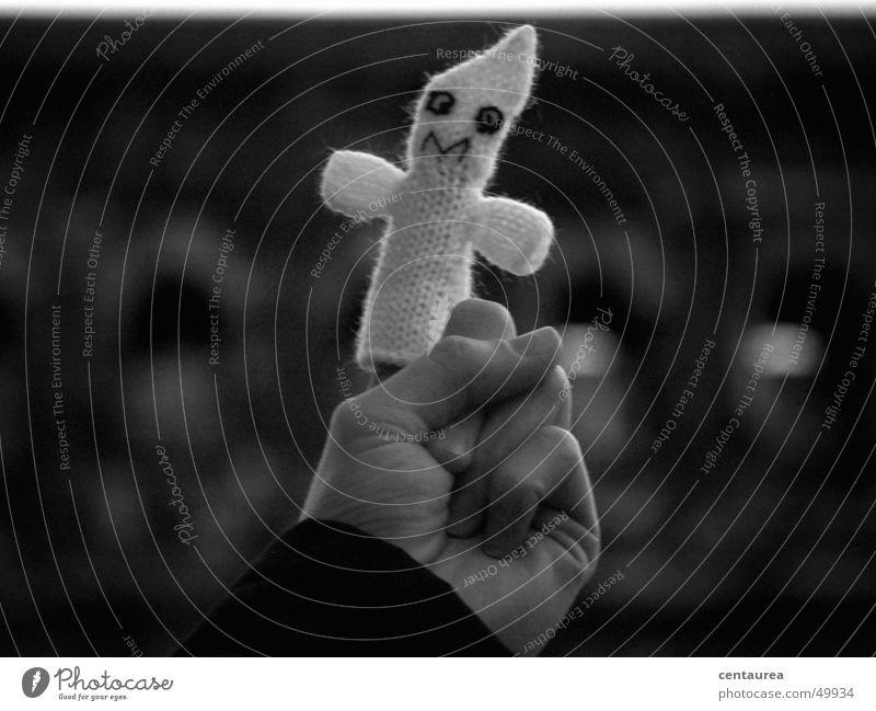 Caspar Gruselgespenst von Trier Hand Finger gruselig Geister u. Gespenster unheimlich Begleiter Fingerpuppe