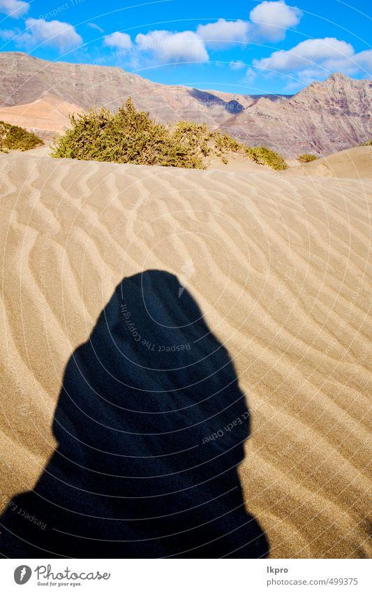 Schatten Erholung Ferien & Urlaub & Reisen Tourismus Ausflug Sommer Strand Insel Wellen Berge u. Gebirge Natur Landschaft Pflanze Sand Himmel Wolken Hügel