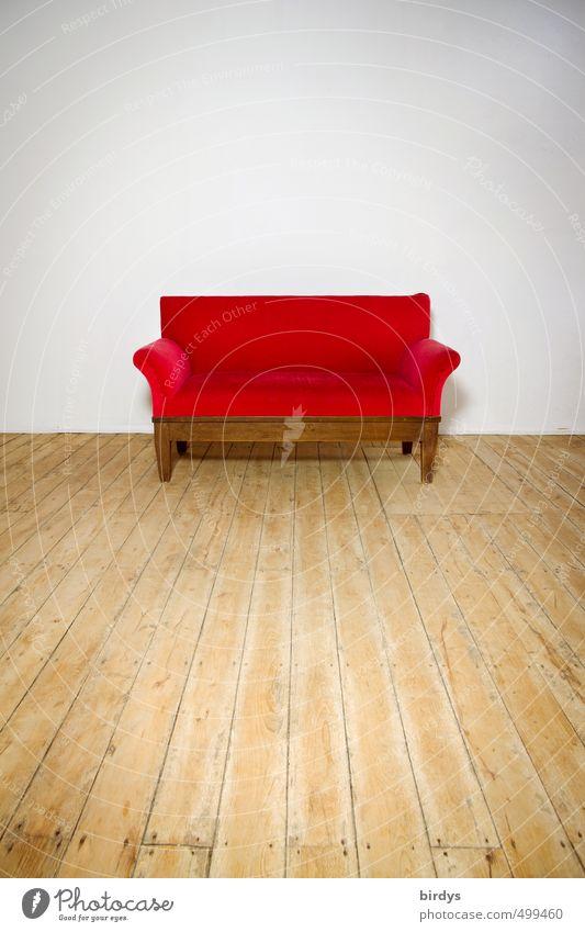 Das rote Sofa Lifestyle Stil Design leuchten ästhetisch einfach elegant schön weiß ruhig einzigartig Leidenschaft 1 rotes Sofa Kanapee Reichtum Holzfußboden