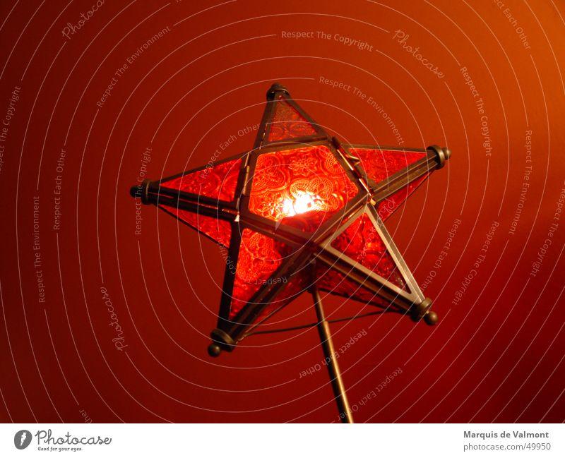 Sternstunde Weihnachten & Advent rot Wärme Stimmung Glas Stern (Symbol) Kerze Dekoration & Verzierung Tradition Christentum Lichtschein Windlicht
