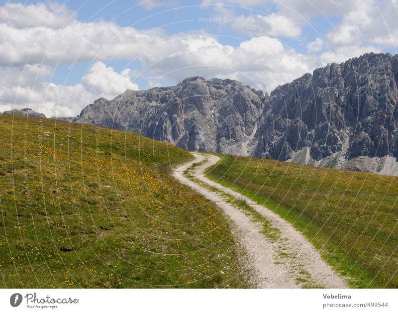 Wälscher Ring/Tullen von der Plose Natur Landschaft Wolken Wiese Alpen Berge u. Gebirge Gipfel Horizont berg berge dolomiten wälscher ring tullen plose südtirol