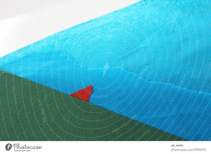 Rotes Dreieck Natur Ferien & Urlaub & Reisen blau grün weiß Farbe Meer rot Umwelt Küste Schwimmen & Baden Horizont Kunst leuchten Design Energie