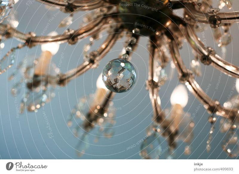 Prunkstück Stil Lampe Metall glänzend Häusliches Leben Lifestyle leuchten Energiewirtschaft Glas Dekoration & Verzierung Gold historisch Kugel hängen Reichtum