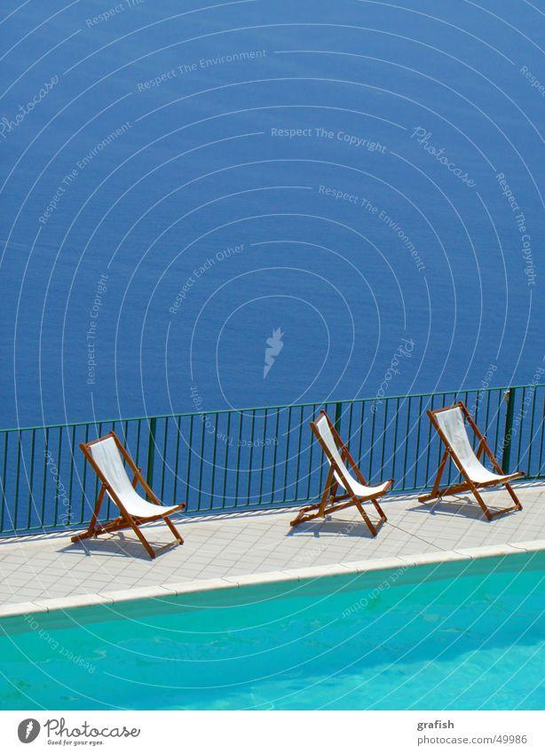 ohne titel Wasser Meer blau Ferien & Urlaub & Reisen Schwimmbad Liegestuhl
