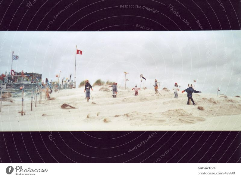 Strandmenschen Mensch Meer Insel Nordsee