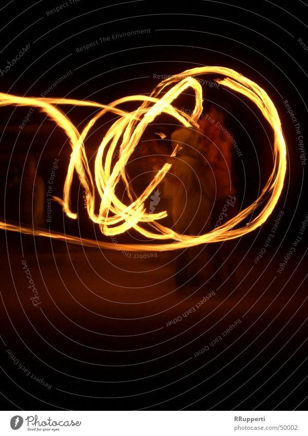 Feuerzauber Nacht Licht Attraktion Kreis Brand Bewegung