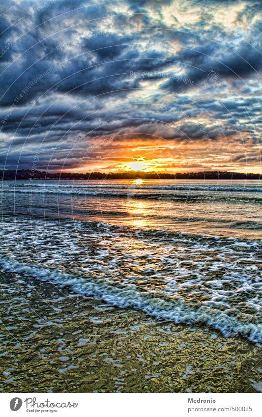 Sonnenuntergang bei Saint Michel en Gréve Himmel Natur Wasser Meer Erholung Landschaft Wolken Strand Herbst Küste Schwimmen & Baden natürlich gehen