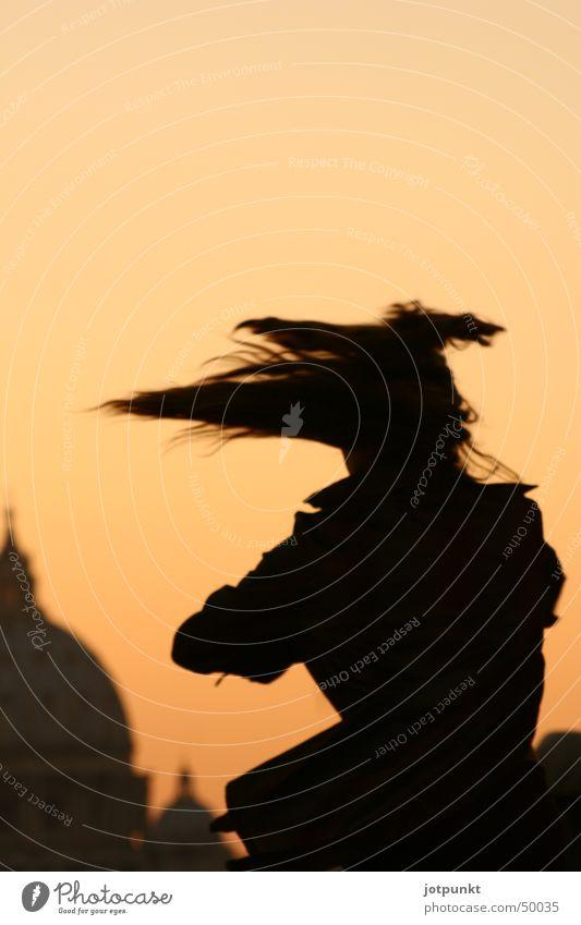 römischer tanz Frau Haare & Frisuren Tanzen Geschwindigkeit Rom Schwung Drehung Petersdom Engelsburg