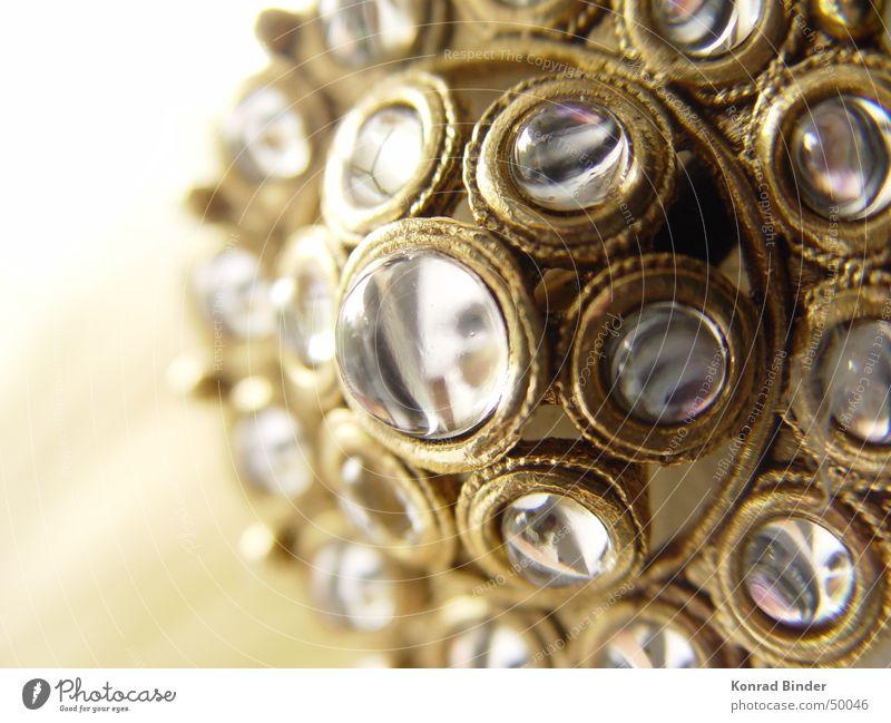 Augen Glas gold Spiegel Anstecknadel