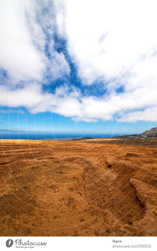 Himmel Natur Ferien & Urlaub & Reisen Pflanze Sommer Meer Blume Landschaft Wolken Berge u. Gebirge Küste Stein braun Felsen Sand Park