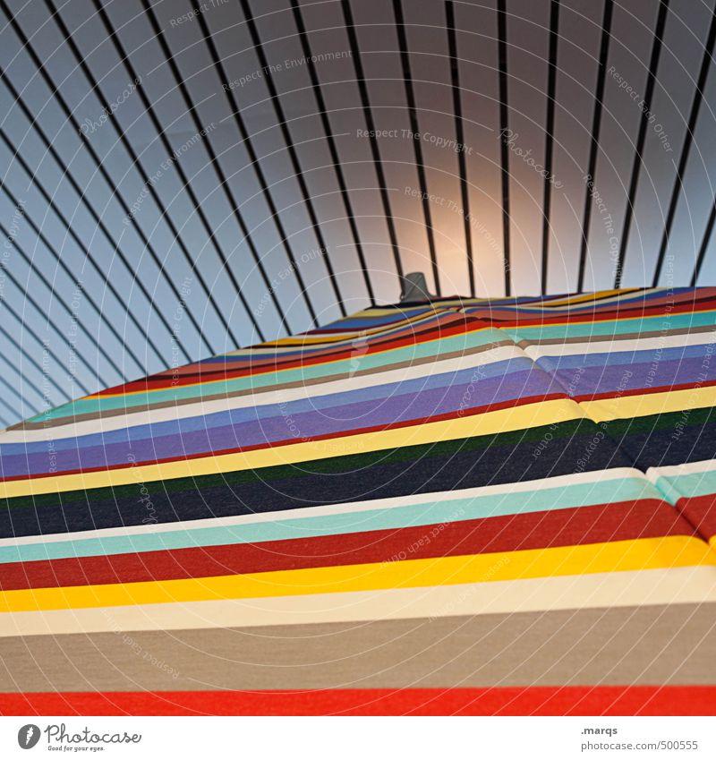 Abschirmung Farbe außergewöhnlich Linie modern Coolness Streifen Schutz trendy Sonnenschirm