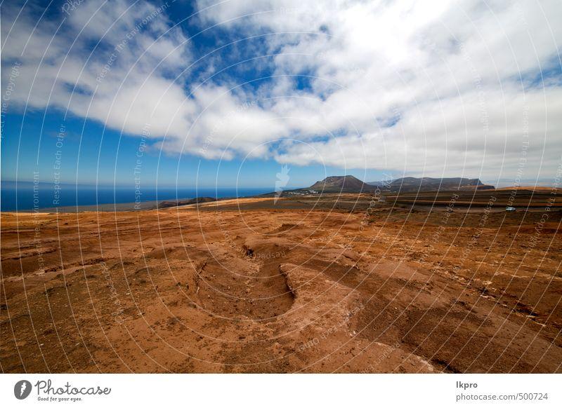 Himmel Natur Ferien & Urlaub & Reisen Pflanze Sommer Blume Landschaft Wolken Berge u. Gebirge gelb Stein braun Felsen Sand Park Tourismus