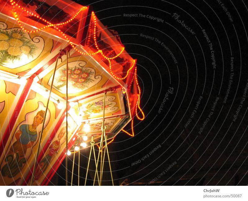 Weihnachtsmarkt-Karussell 2004 Weihnachten & Advent schwarz Lampe dunkel Jahrmarkt