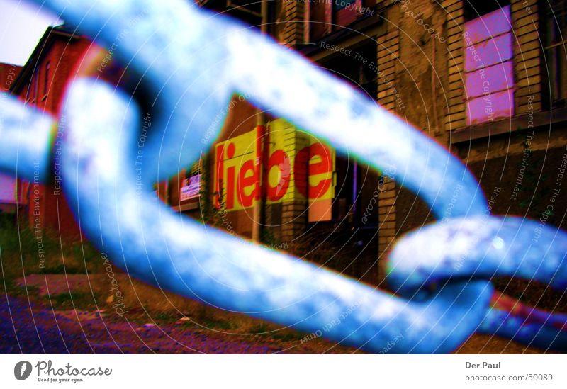Liebe ?! alt Liebe Haus Einsamkeit Wand Stil Graffiti Hoffnung Kette gefangen gießen