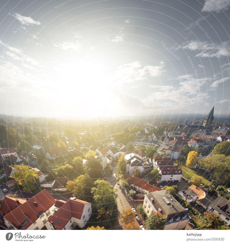 so ist soest Kultur Umwelt Natur Landschaft Horizont Sonne Herbst Schönes Wetter Dorf Stadt Stadtzentrum Altstadt Skyline bevölkert Haus Einfamilienhaus Kirche