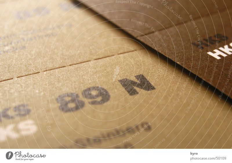 HKS 89N Farbe braun Design Papier Fächer Druck beige gestalten