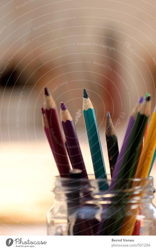 \\\\// Schreibstift Holz Glas positiv blau mehrfarbig gelb grau grün rosa schwarz türkis weiß Farbstift Spitze angespitzt Kreativität zeichnen