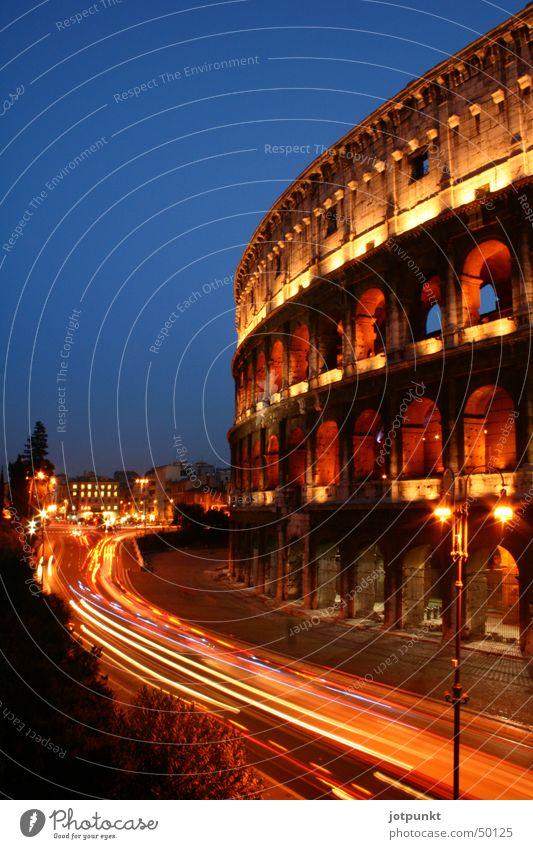 kolosseum Kolosseum Rom antik Langzeitbelichtung