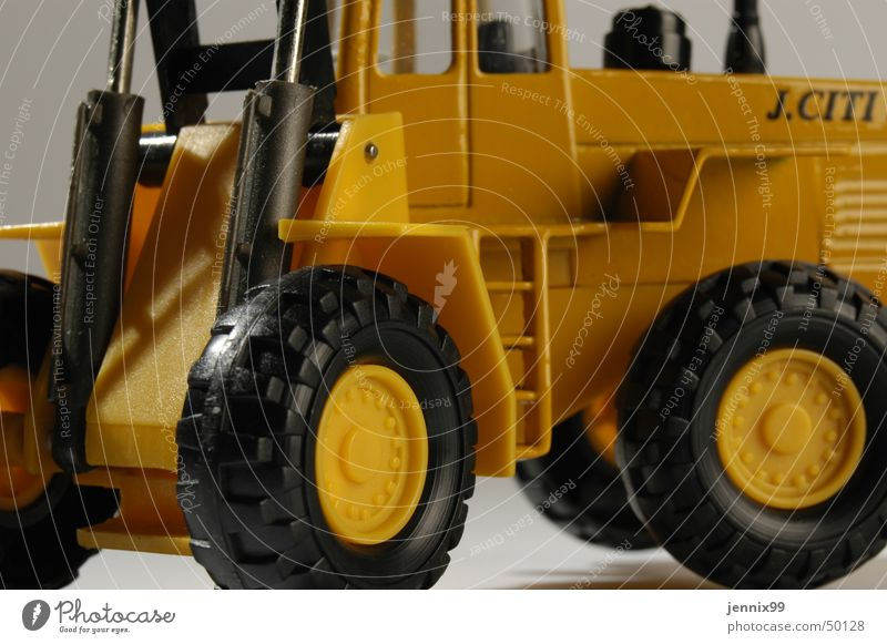 j.citi Farbe gelb hell Baustelle Spielzeug Leiter Anschnitt Bagger Radlader
