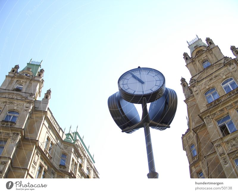 Jüdisches Viertel in Prag Haus Fassade Uhr