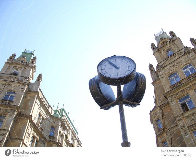 Jüdisches Viertel in Prag Haus Fassade Uhr Jüdisches Viertel
