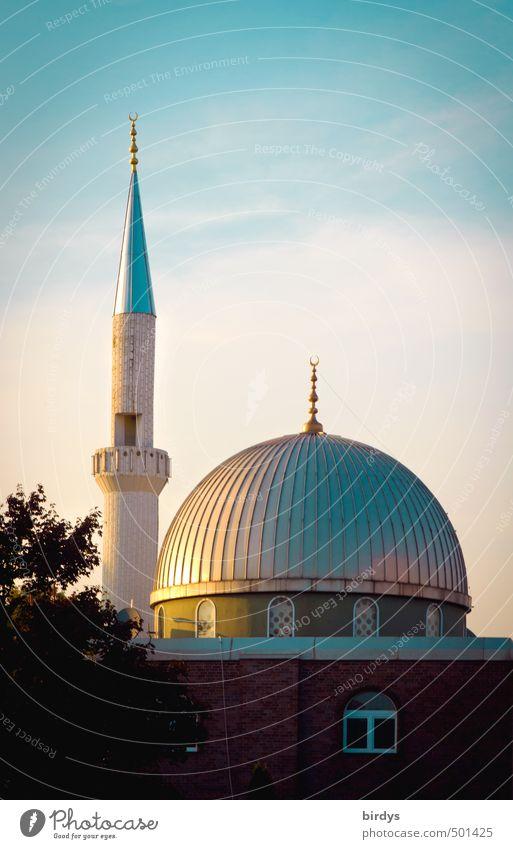 Deutschland deine Moscheen schön Religion & Glaube glänzend leuchten ästhetisch Spitze Sauberkeit rund exotisch Kuppeldach Integration Islam Akzeptanz Minarett