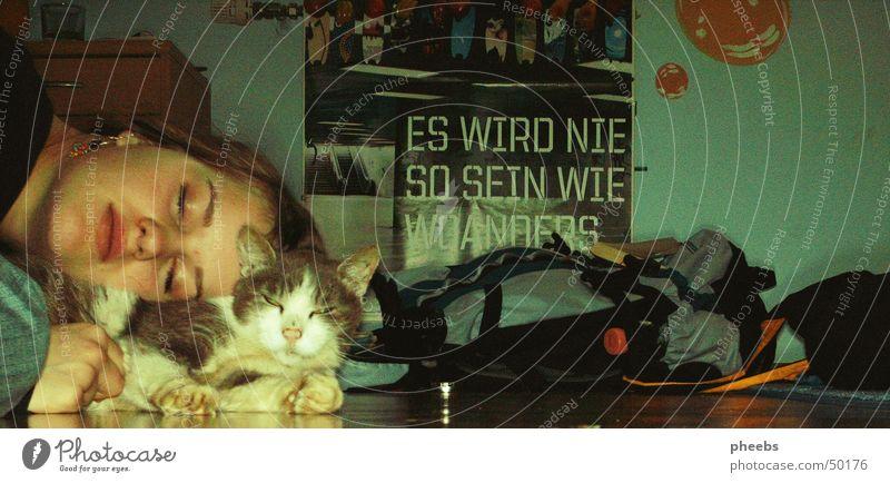 Es Wird Nie So Sein Wie Woanders Katze Rucksack Plakat fm4