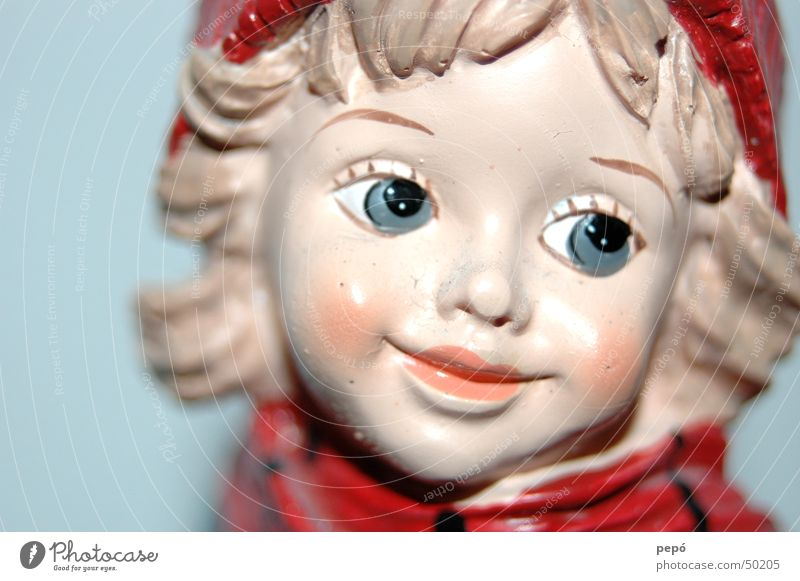 winter-boy rot Mädchen Winter Freude Auge lachen Mütze Puppe stechen Wagen
