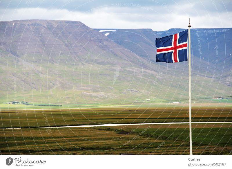 Iceland ruhig Freizeit & Hobby Ferien & Urlaub & Reisen Tourismus Ausflug Abenteuer Ferne Freiheit Expedition Fahrradtour Sommerurlaub Insel Berge u. Gebirge