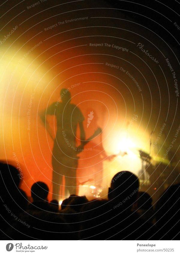 Schattenkonzert Musik Konzert Schattenspiel Gitarrenspieler