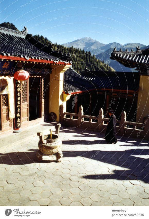Taoistische Kloster am Lake Bogda, Singkiang, China ruhig Berge u. Gebirge Geistlicher Mönch Fernost