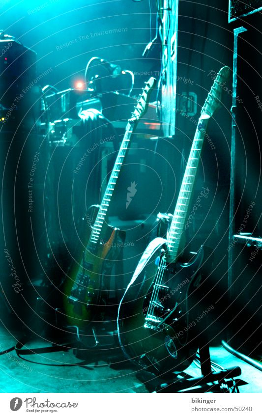 Instrumentenpause Nebel Pause Konzert Gitarre