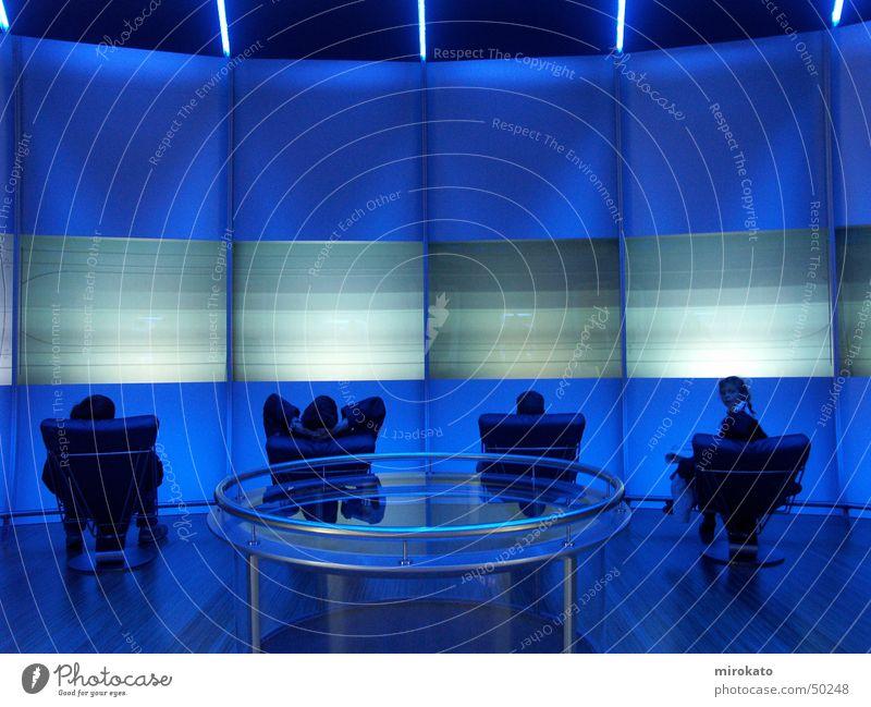blauer raum Mensch blau ruhig Erholung Raum Coolness Bildschirm Sessel Acryl