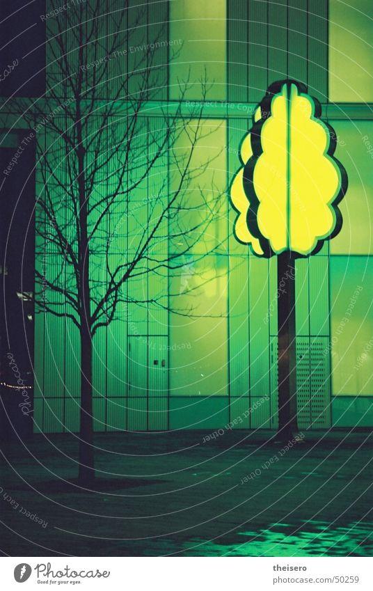 baum am stiel Baum grün Lampe kalt Technik & Technologie